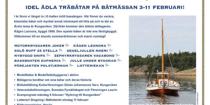 Möt oss på Båtmässan den 3-11 Februari!